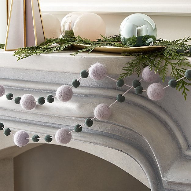 """Felt Lilac and Teal Garland 108"""" - Image 1 of 5"""