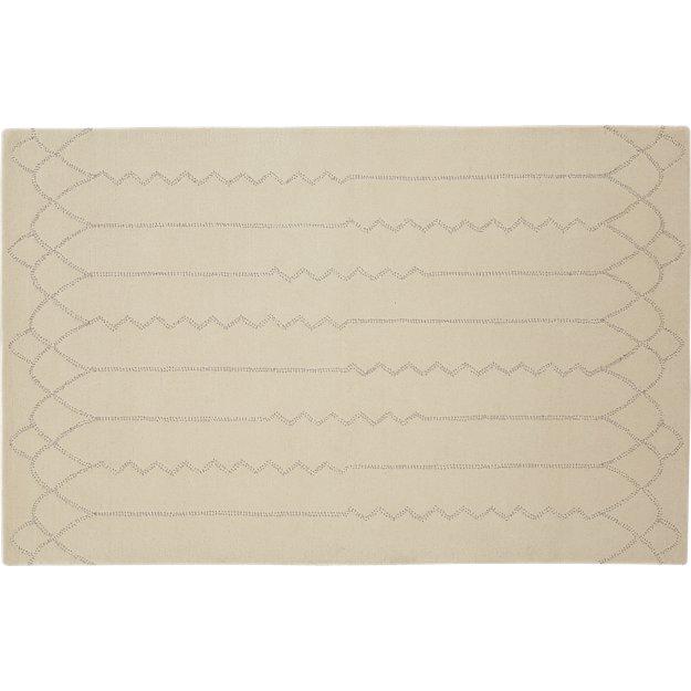Fez Ivory Wool Rug 5'x8' - Image 1 of 5