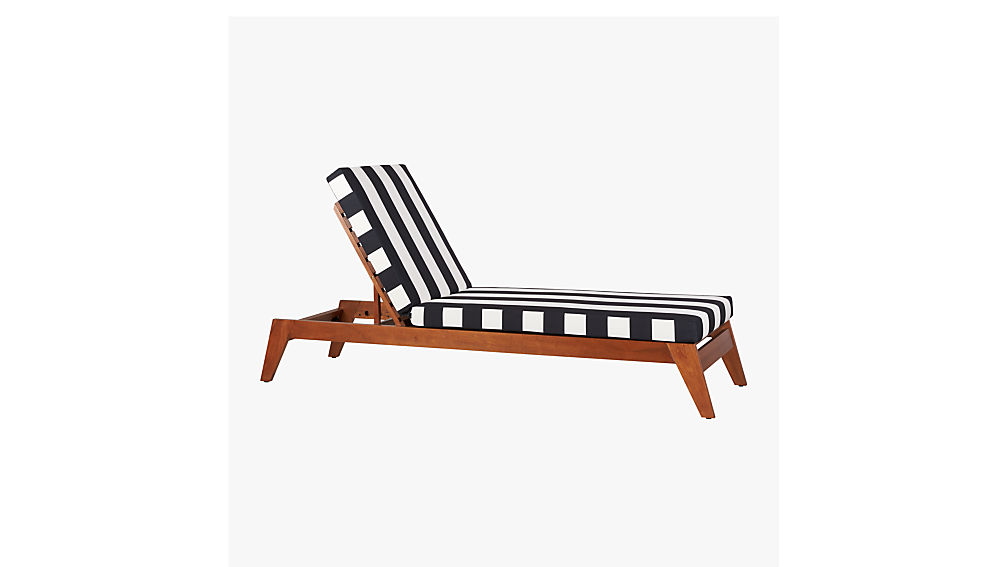 Filaki Black And White Striped Chaise Lounge + Reviews | CB2