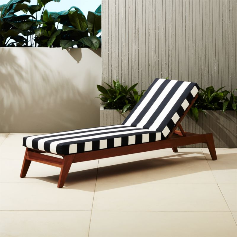 Filaki Black And White Striped Chaise Lounge Reviews Cb2