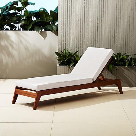Peachy Filaki Lounger With Natural Cushion Customarchery Wood Chair Design Ideas Customarcherynet