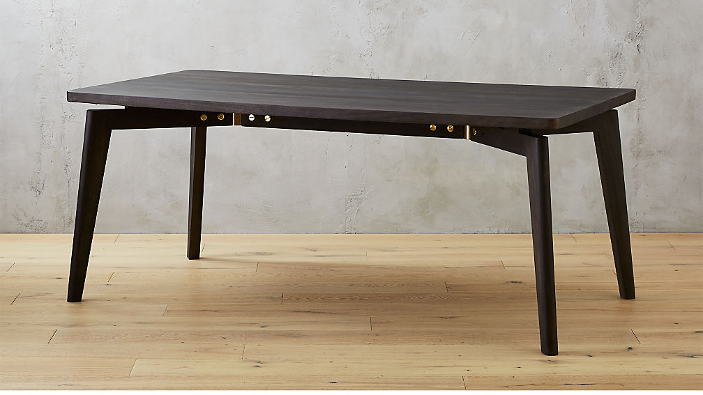 finmark charcoal black wood dining table + reviews | cb2 Charcoal Dining Table
