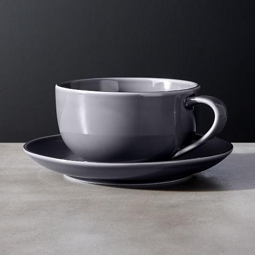 Fiona Grey Cup and Saucer