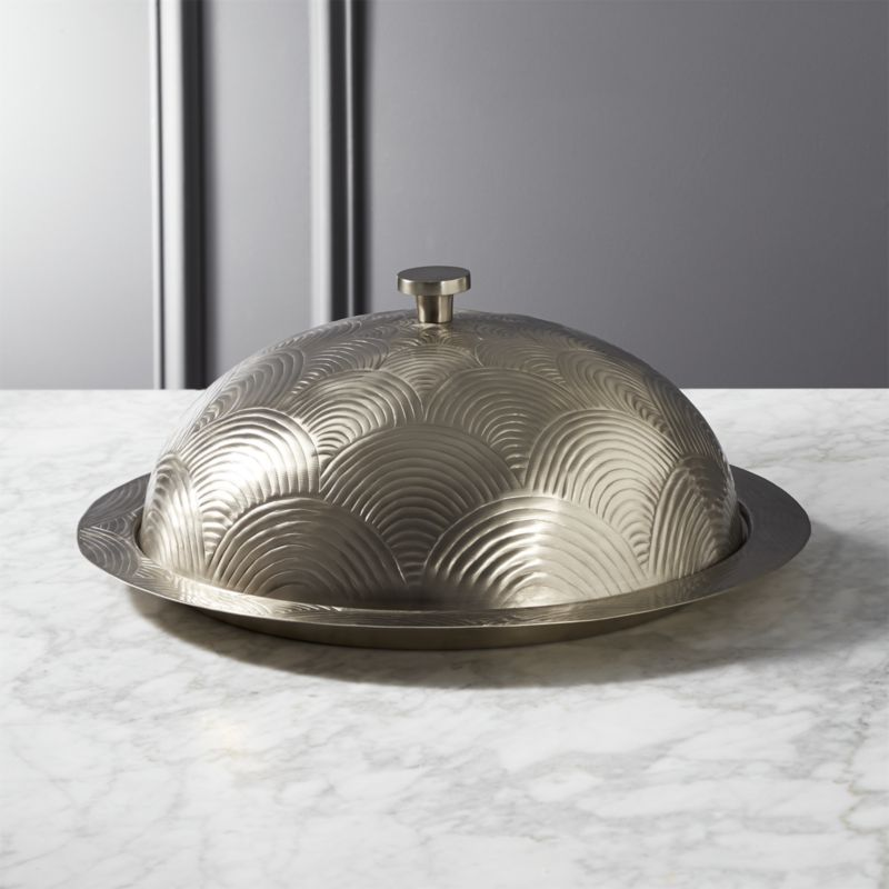 Fiona Silver Covered Serving Platter