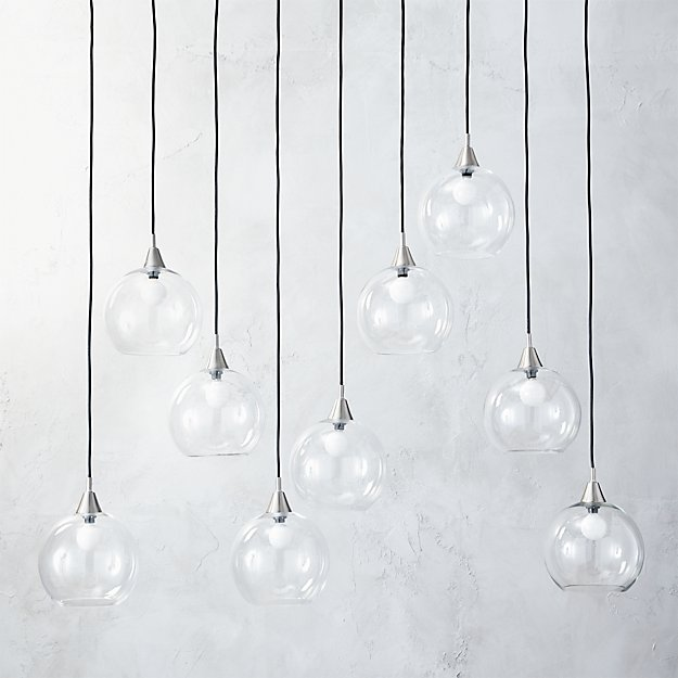Firefly 9 Bulb Nickel Pendant Light - Image 1 of 8