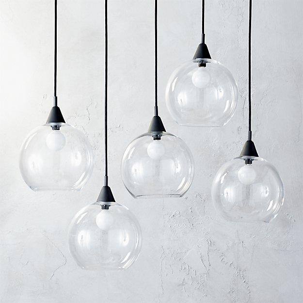 Firefly 5 Bulb Black Pendant Light - Image 1 of 12