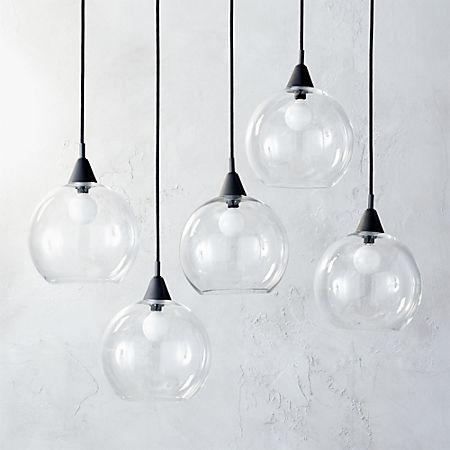 Firefly 5 Bulb Black Pendant Light