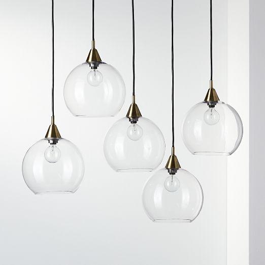 Firefly 5 Bulb Brass Pendant Light