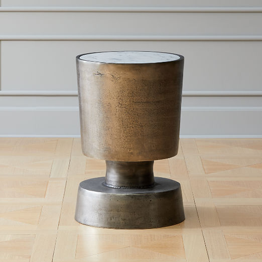Fischer Metal and Marble Side Table