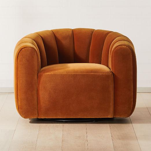 Fitz Russet Swivel Chair