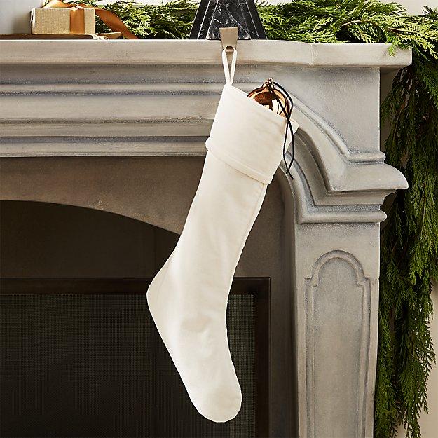 Flake Velvet White Stocking - Image 1 of 5