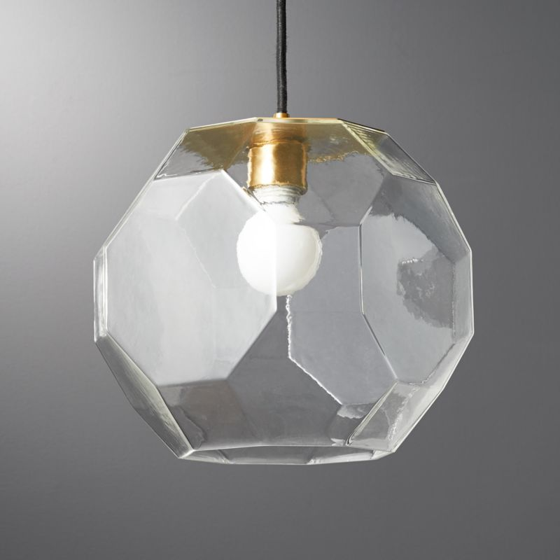 Flat Gl Pendant Light