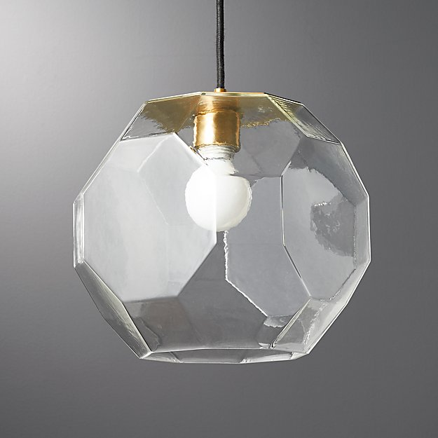 Flat Glass Pendant Light - Image 1 of 12