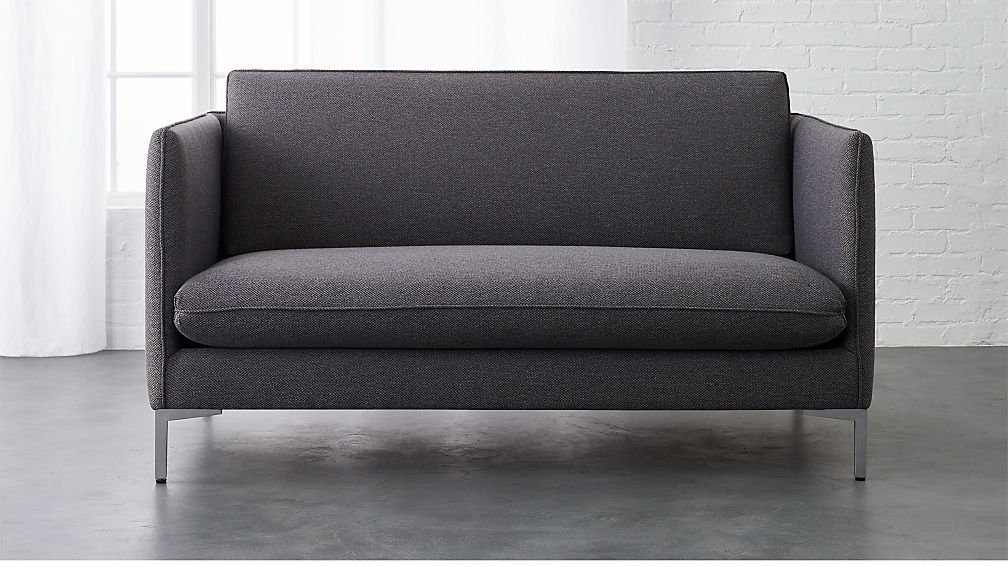 flatiron grey apartment size sofa + Reviews | CB2