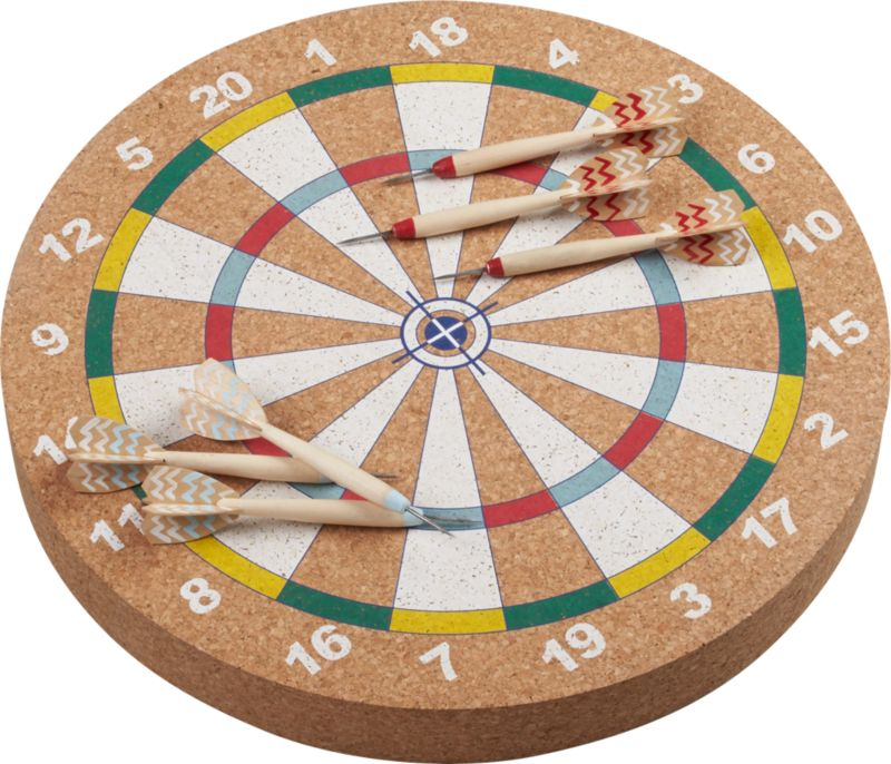 Flechette Dartboard And Darts Game Sold Out Reviews Cb2