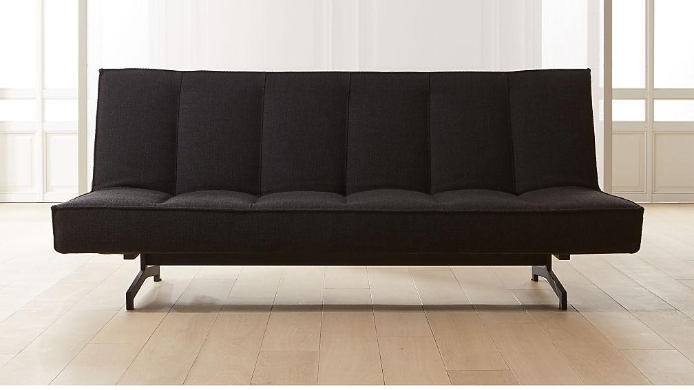 Flex Black Sleeper Sofa - Image 1 of 8
