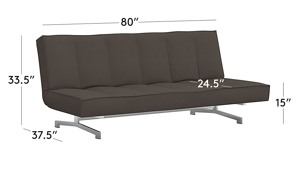 TAP TO ZOOM Image With Dimension For Flex Gravel Sleeper Sofa