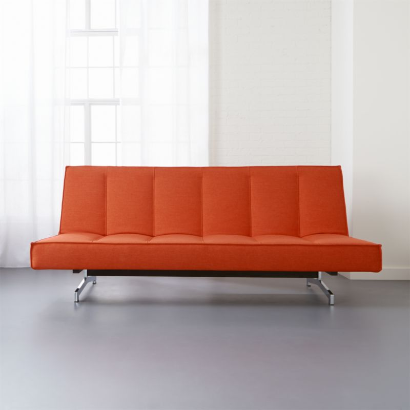 Flex Orange Sleeper Sofa + Reviews | CB2