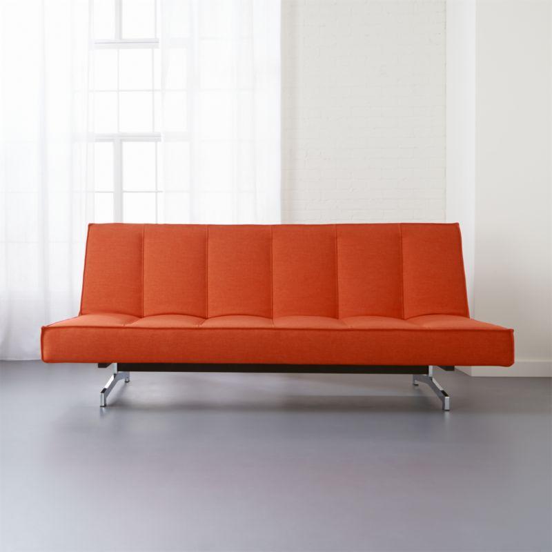 Flex Orange Sleeper Sofa + Reviews | CB2