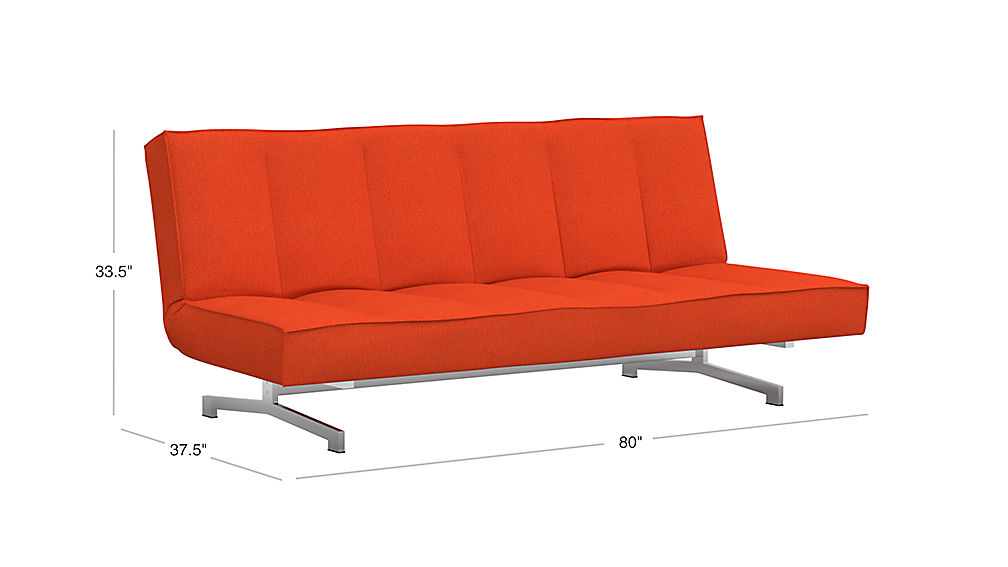 TAP TO ZOOM Image With Dimension For Flex Orange Sleeper Sofa