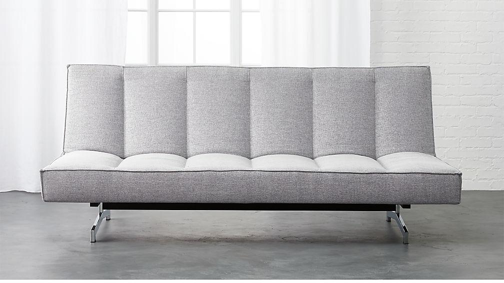 flex microgrid grey sleeper sofa + Reviews | CB2