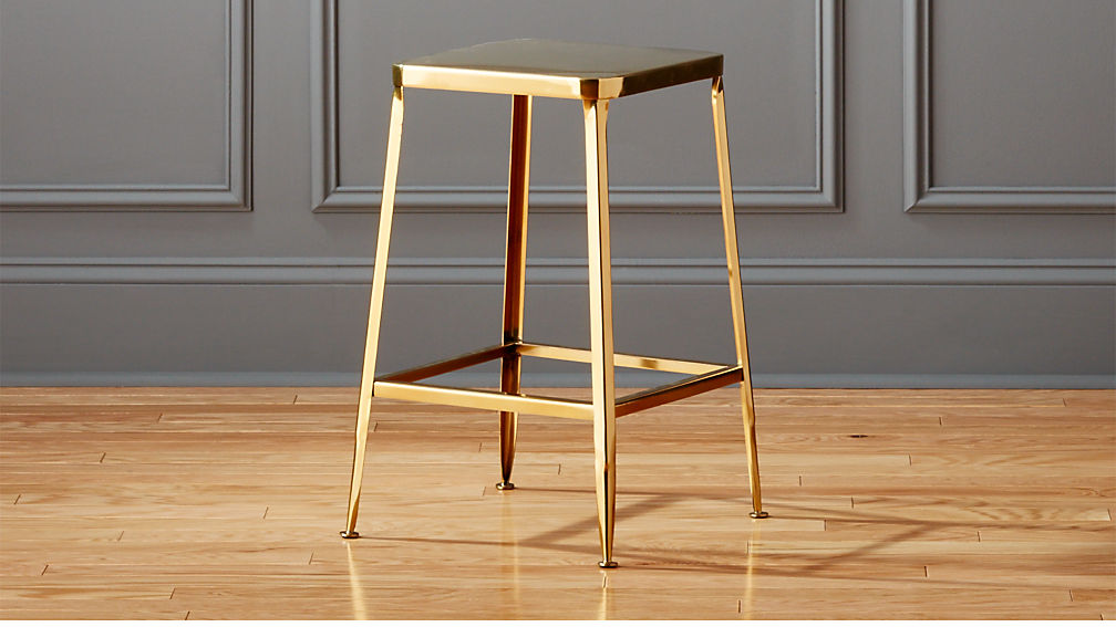 Flint Gold 24 Quot Counter Stool Reviews Cb2