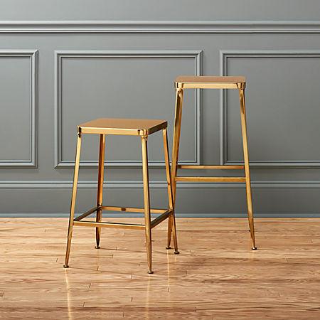 Remarkable Flint Gold Bar Stools Pabps2019 Chair Design Images Pabps2019Com
