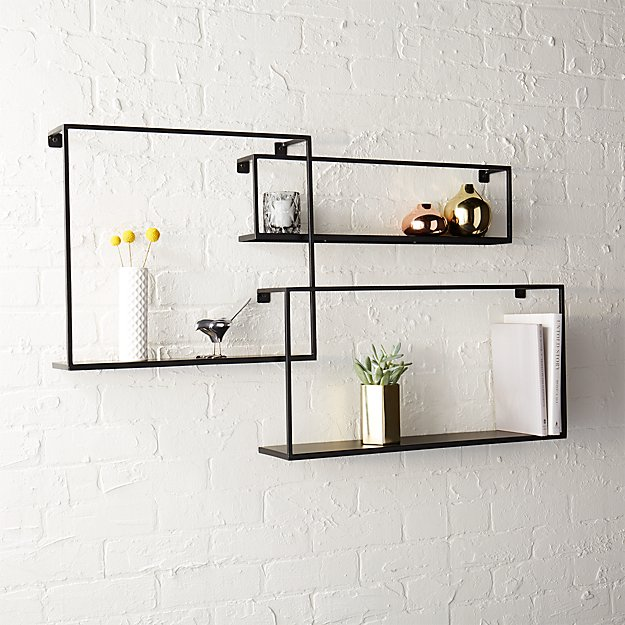 set of 3 iron floating shelves reviews cb2 rh cb2 com ikea floating shelves images floating shelves pictures