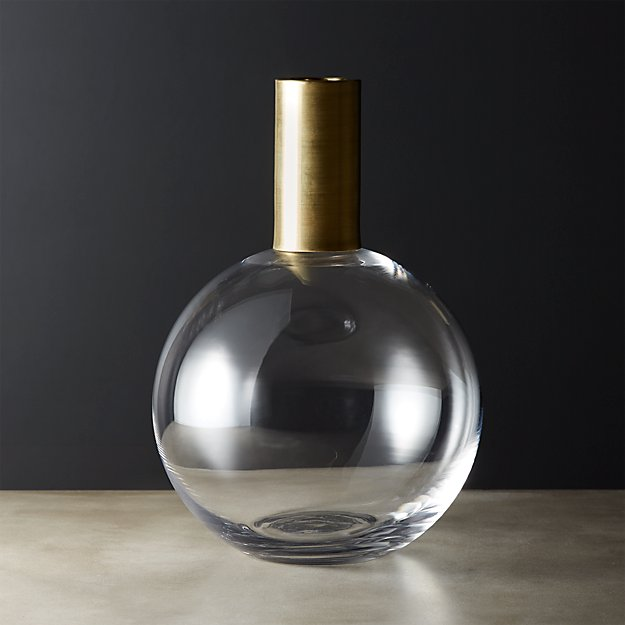 Florence Brass and Glass Vase