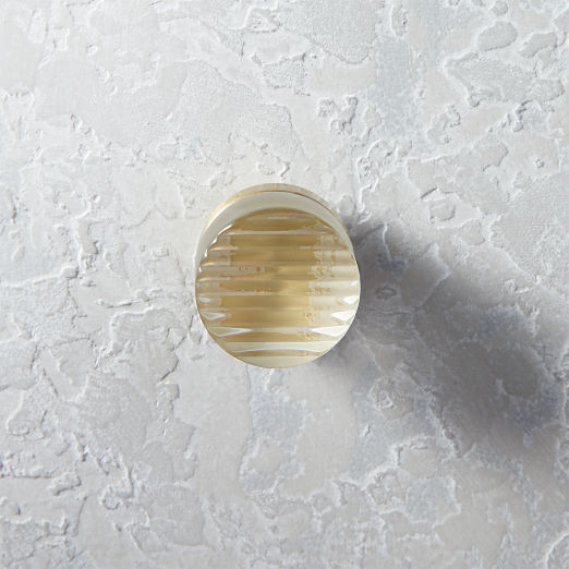 Fluted Glass and Brass Knob