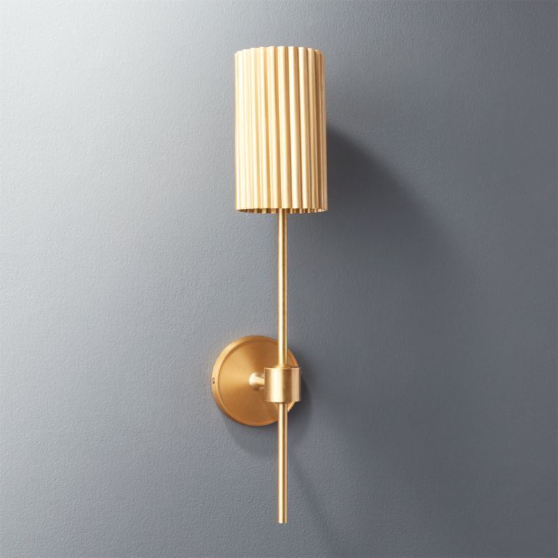 Fluted Gold Wall Sconce + Reviews | CB2