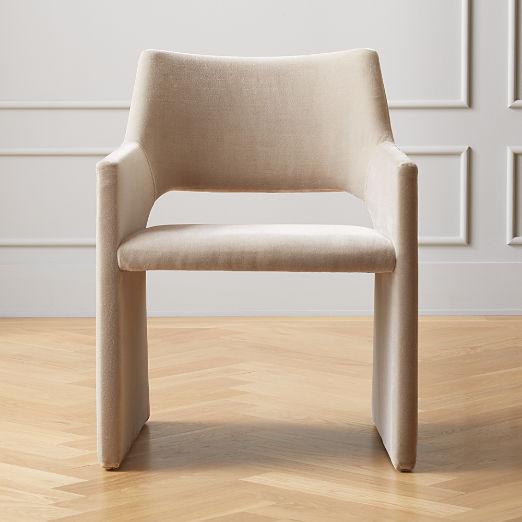 Foley Faux Mohair Grey Dining Chair
