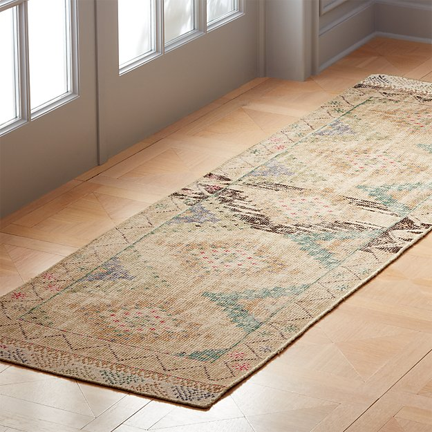 Foothills Hand-Knotted Kilim Runner 2.5'x8' - Image 1 of 3