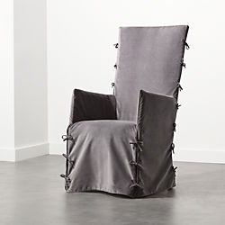 Fora Grey Slipcover Chair