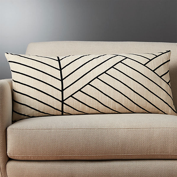36 X16 Forma Linen Lumbar Pillow Cb2 Canada