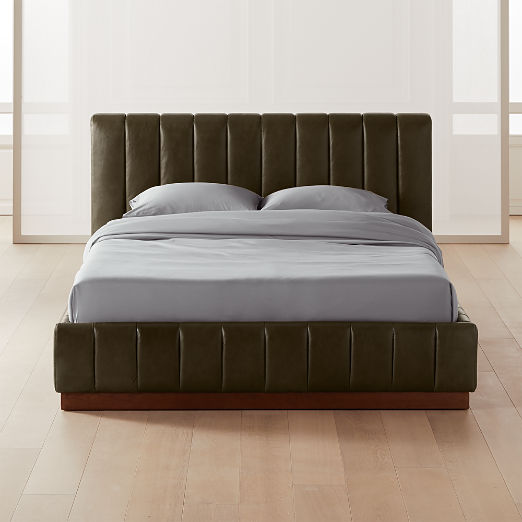 Forte Leather Bed