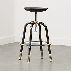 Foster Black Adjustable Bar Stool