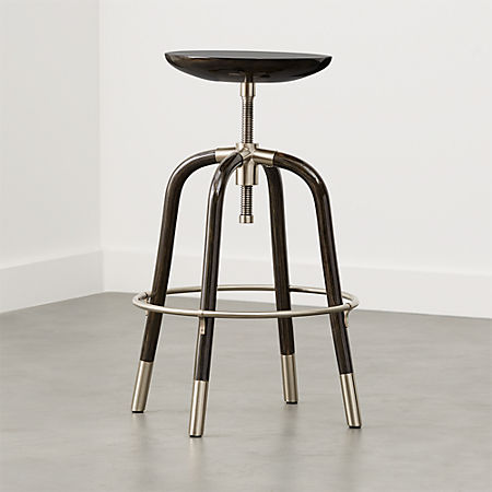 Amazing Foster Black Adjustable Stool Andrewgaddart Wooden Chair Designs For Living Room Andrewgaddartcom