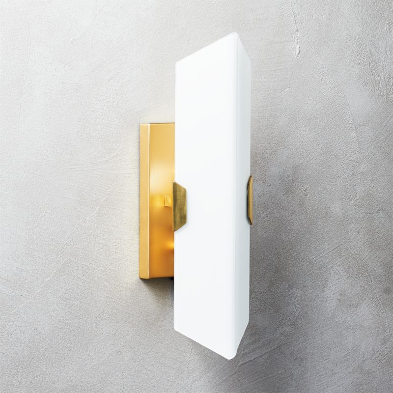 Fragment Glass Wall Sconce + Reviews | CB2