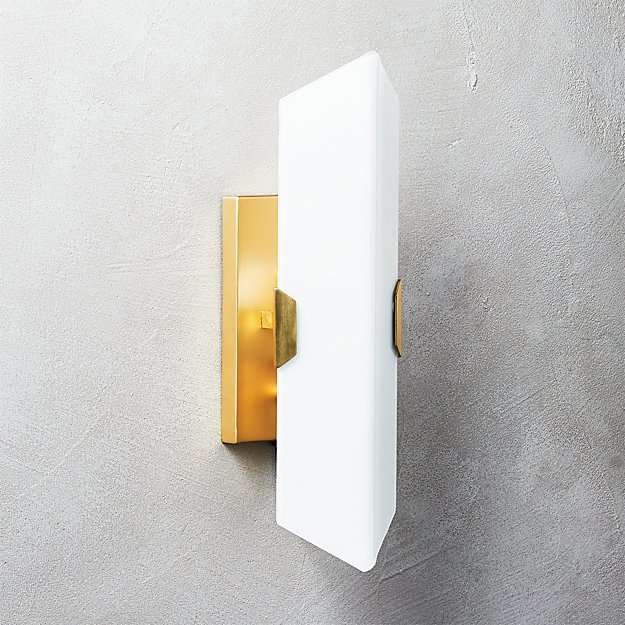 Fragment glass wall sconce reviews cb2 mozeypictures Image collections