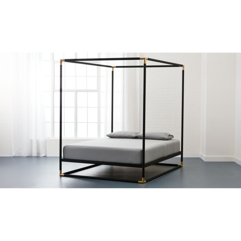 Minimalist FrameCanopyBedQueenSHS16 16x9 Idea - Unique Brass Bed Frame In 2019
