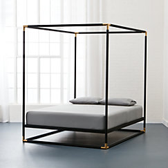 Canopy Bed.Frame Black Metal Canopy Bed Cb2