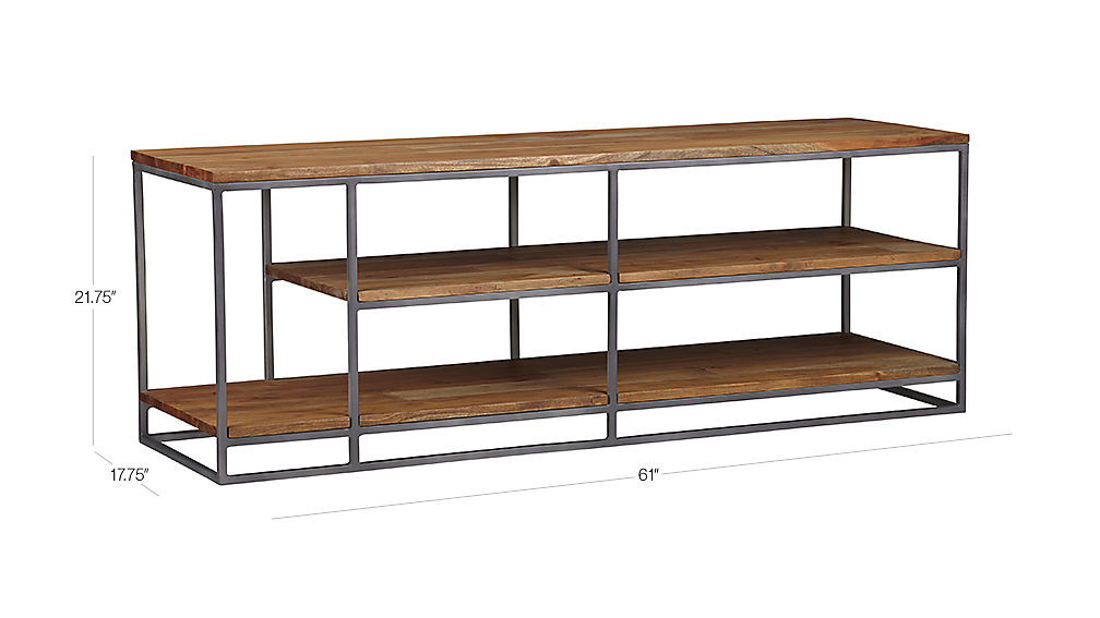 Image with dimension for framework credenza