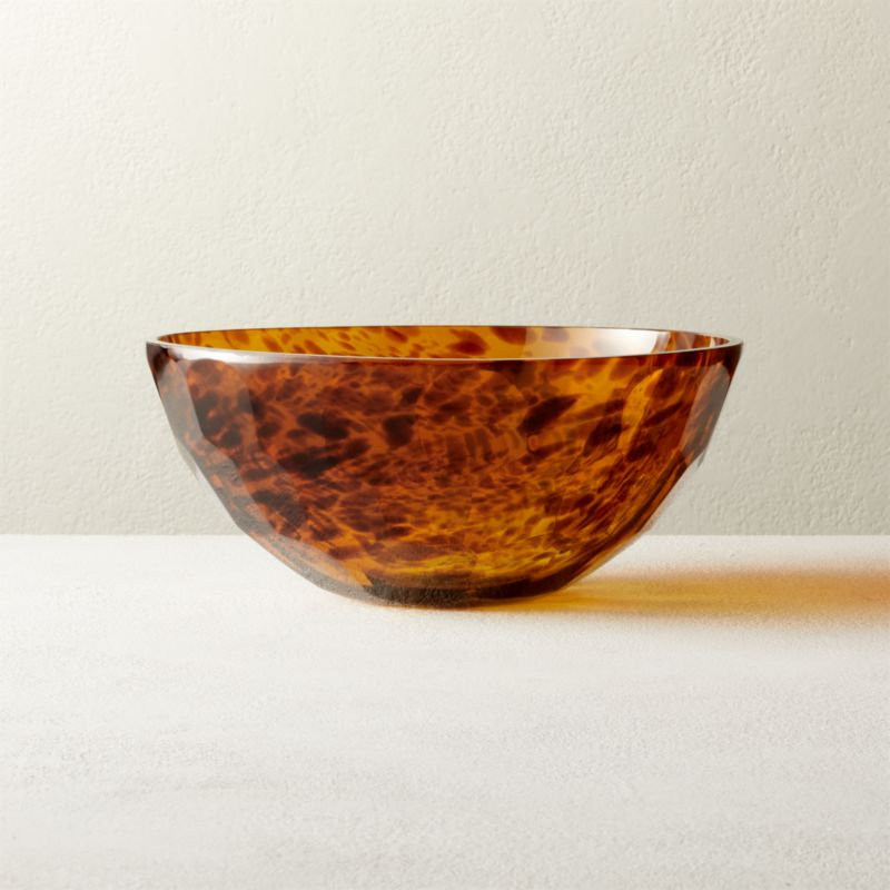 Franklin Brown Glass Bowl by Crate&Barrel