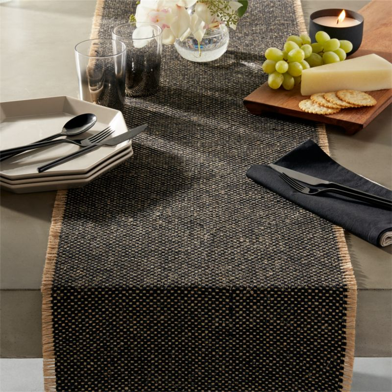 Black Table Runners | CB2