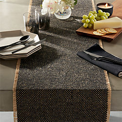 Fray Cotton And Jute Table Runner