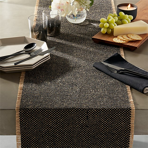 Fray Cotton And Jute Table Runner Reviews Cb2