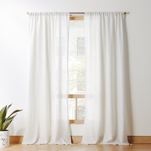 Silver Grey Linen Curtain Panel - Image 1 of 7