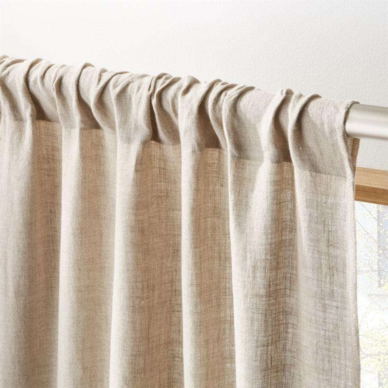 Natural Linen Curtain Panel 48 Quot X108 Quot Reviews Cb2