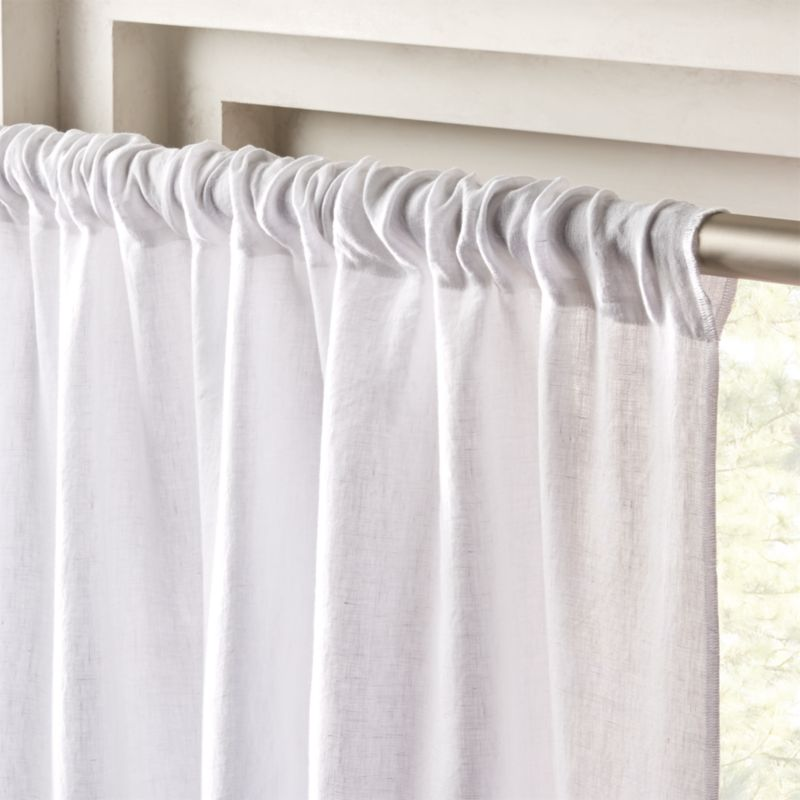 White Linen Curtain Panel